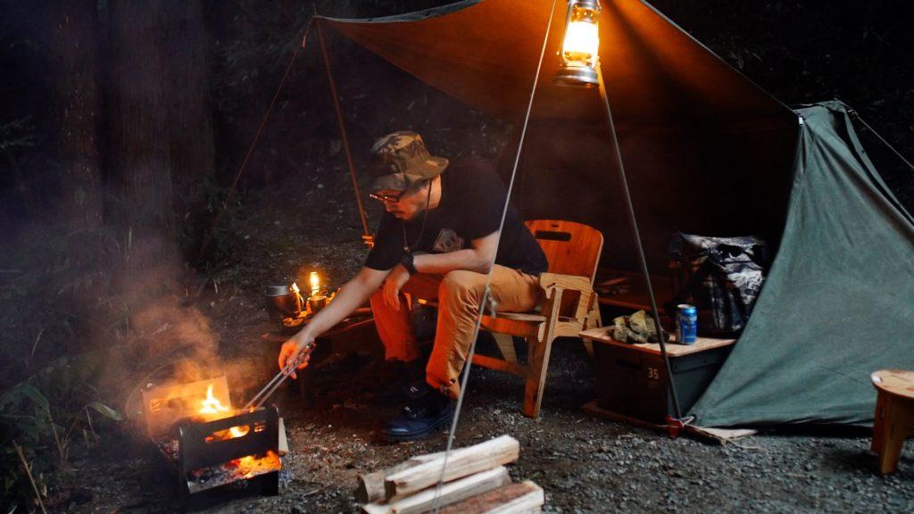 焚き火台 COOKING FIRE PITでソロキャンプ
