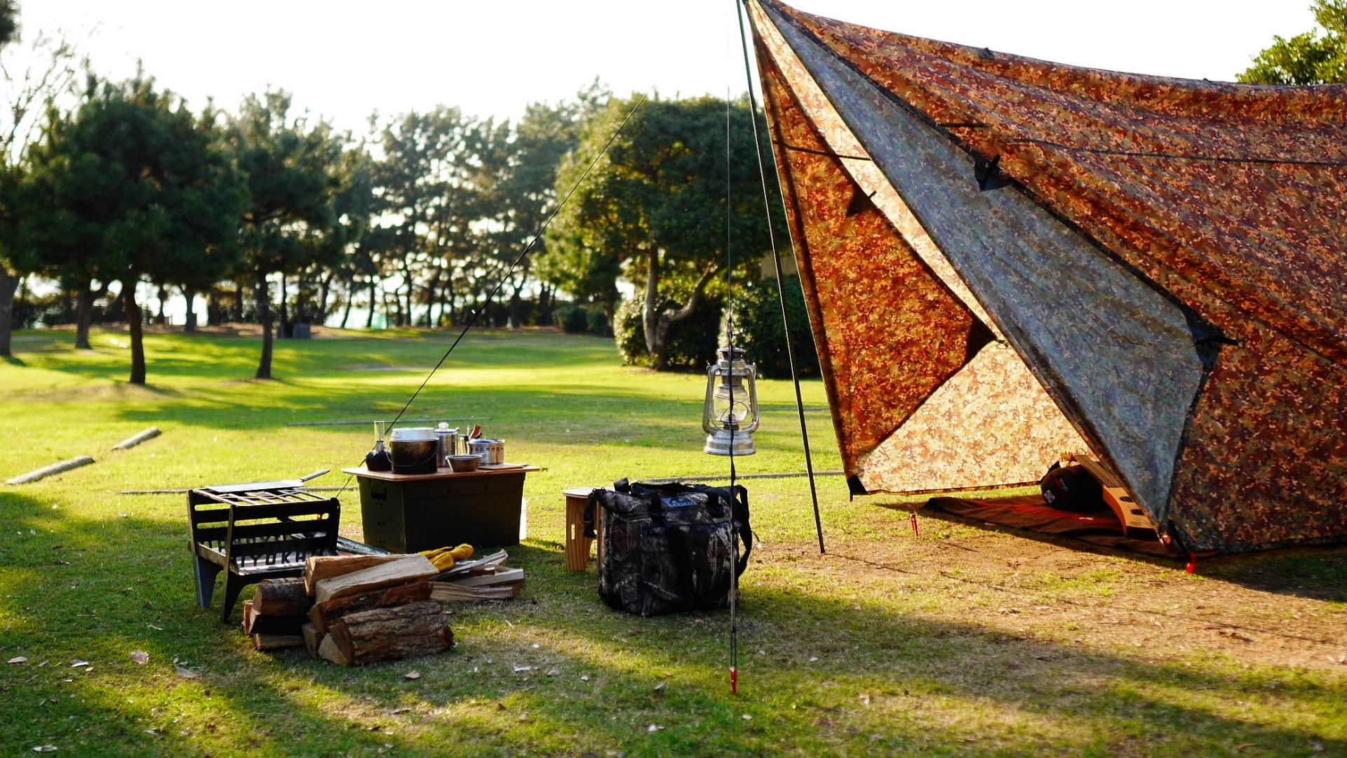YOKAでキャンプの様子